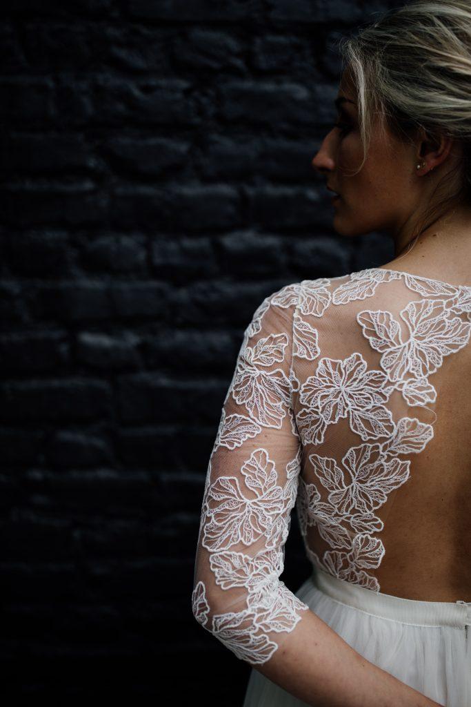 Robe de mariée sur-mesure Autumn par Maïté Bailleul créatrice à Lille