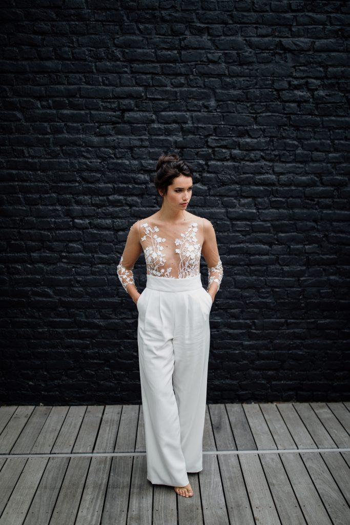 Robe de mariée sur-mesure Holy par Maïté Bailleul créatrice à Lille
